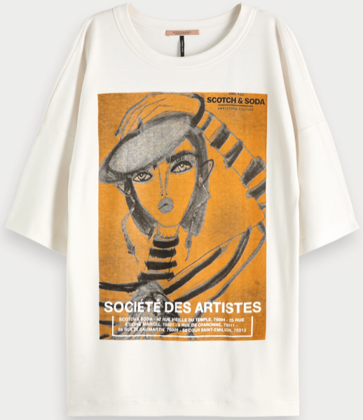 Loosefit tee Maison Scotch Blair Breitenstein