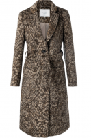 Wool blend coat Yaya Choco print