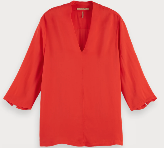 Viscose top Maison Scotch fire red