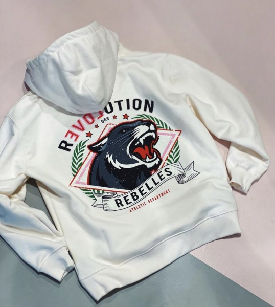 Revolution offwhite hoodie Colourful Rebel