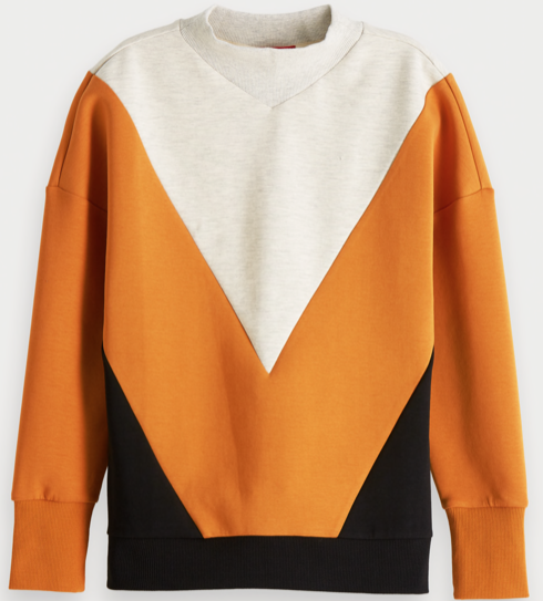 Colourblock sweater van Maison Scotch