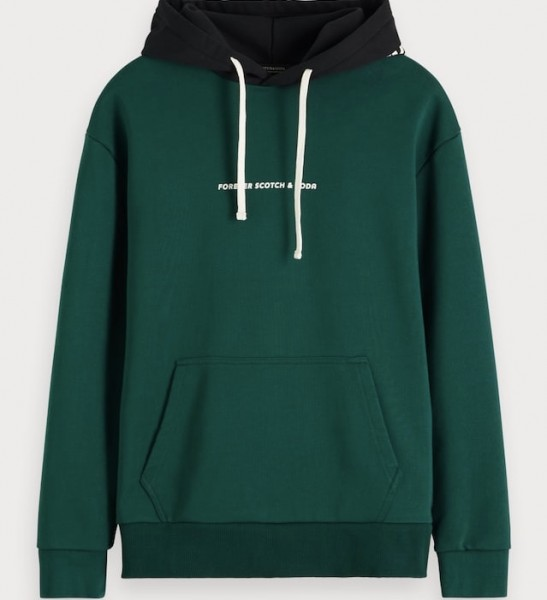 Hoodie green Scotch & Soda 152239