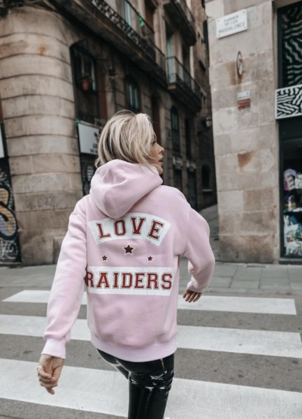 Love Raiders hoodie pink Colourful Rebel